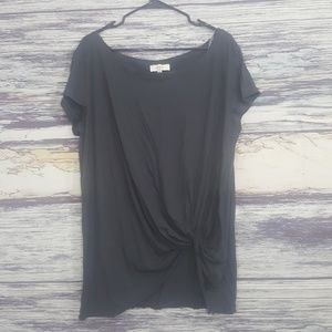 Umgee gray knotted blouse size XL